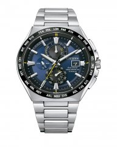 Reloj Citizen at8234-85l radiocontrolado hombre titanio azul cristal zafiro
