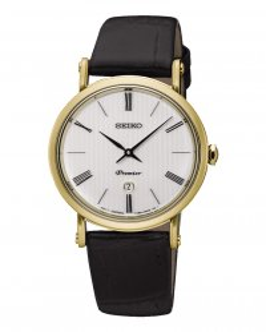 sxb432p1 Seiko reloj mujer acero dorado piel