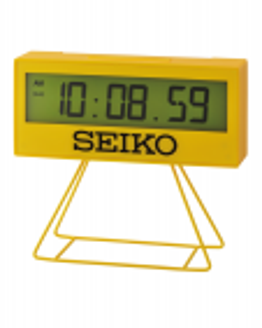 Reloj Seiko despertador qhl083y rectanguar digital alarma luz pantalla lcd calendario