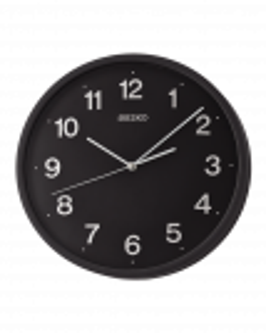 Reloj Seiko pared qxa645r redondo rojo esfera blanca números arábigos