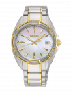Reloj Seiko skk878p1 con 18 diamantes para mujer, acero bicolor en rose, calibre 7n32, esfera anacarada, cristal zafiro antirreflejo