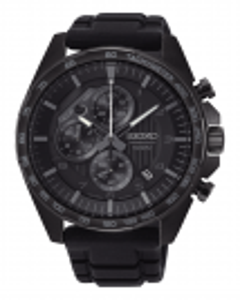 Reloj Seiko ssb327p1 para hombre cronógrafo en acero negro y caucho, esfera en negro, Neo Sports 8t67
